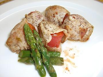 ミニトマトの豚肉巻