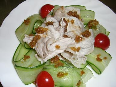豚シャブとキュウリの香味サラダ