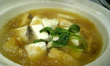 豆腐とブリのおろしポン酢鍋 (美容鍋)