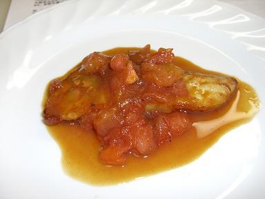 白身魚のトマトポン酢焼き