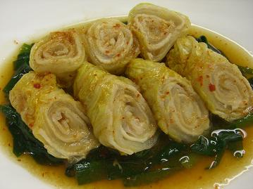 豚肉と白菜のキムチダレ煮