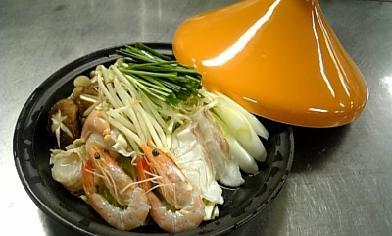 魚介類のタジン鍋