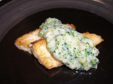 魚のブロッコリーソース